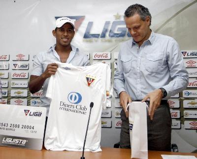 Jugador De Liga Deportiva Universitaria De Quito Ayer En La Tarde